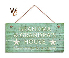 GRANDMA AND GRANDPA'S HOUSE Sign, Where Memories Are Made, Weathered 5x10 Sign 2