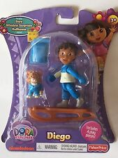 NEW DORA WINDOW SURPRISES DOLLHOUSE DIEGO INCLUDES 4 PLAY PIECES  SLEIGH LEOPARD