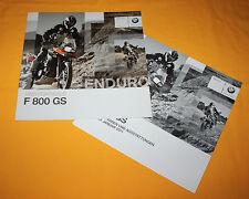 BMW F 800 GS 2009 Prospekt Brochure Depliant Catalog Prospect Folder Broschyr