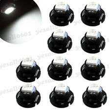 10x White T4.7 T5 Neo Wedge LED Bulb Dash Climate Control Instrument Base Light
