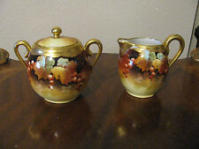 Fabulous Pickard Cream and Sugar 24k Gold signed Vokral