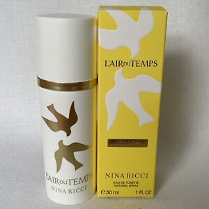 L'AIR DU TEMPS Nina Ricci Eau De Toilette 1 oz Women's Travel Perfume New In Box