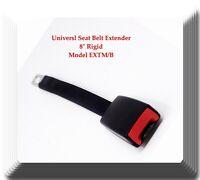 "Black Universal Seat Belt Extender 8"" Rigid Extension Model: EXTM/B With Buckle"
