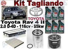 KIT TAGLIANDO TOYOTA RAV 4 II 4WD DAL 09/2001 AL 11/2005 85KW OLIO + FILTRI **