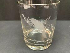 Neiman Marcus Etched DOF Barware Glass Tumbler