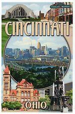 Cincinnati Ohio Montage, Fountain Square, Findlay Market etc. -- Modern Postcard