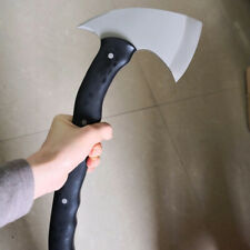 Tactical Custom Hand Made Black Whirlwind Axe Throwing Hand Forged For Camping