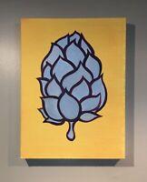 """Bullion"" Original Acrylic Painting hops on Canvas Pop Art 16""x 12"""