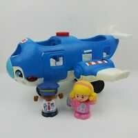Fisher Price Little People Travel Together Airplane Blue Plane