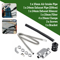 Air Filter 200cm Exhaust Pipe Silencer Muffler Bracket For Air Diesel Heater