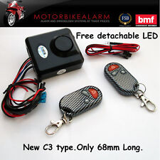 EASY FIT Motorcycle / Motorbike bike Scooter Trike Quad Alarm 2 wire connection