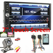 "2Din 7"" Car Video MP5 Player + Rear View Camera USB FM Bluetooth Radio Audio New"