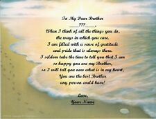 Brother Personalized Poem for a Christmas~Birthday~Father's Day Gift Footprints