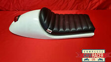 VINCENT STYLE CAFE RACER SEAT WITH BUILT IN TAIL LIGHT & BOLT ON/OFF DELUXE PAD