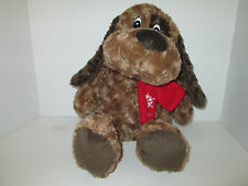 """Brown Puppy Dog Christmas 2011 Plush Best Made Toys Holiday 17"""""""