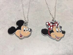 MINNIE- MICKEY MOUSE NECKLACES (both)