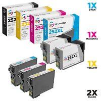 LD 5 Pk Reman Cartridges for Epson Ink 252 XL WorkForce WF-3620 WF-3640 WF-7110