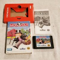 Monopoly Sega Genesis COMPLETE VIDEO GAME
