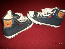 Levi's Navy Blue Canvas Hi-Top Athletic Shoes Kids - Youth Size 3.5