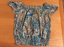 Size  10 Gypsy Top Lovely Paisley Pattern  new.  Holiday Tb111
