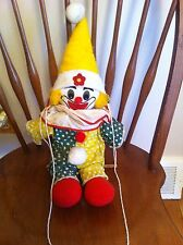 vintage Master Juvenile Products brand clown doll on swing Collectors Rare old