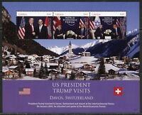 LIBERIA 2018  PRESIDENT  TRUMP VISITS DAVOS SWITZERLAND SHEET MINT NH