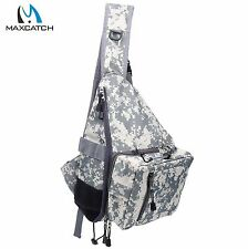 camo Fly Fishing Sling Pack Shoulder Fishing Bag with Tippet Holder Nipper