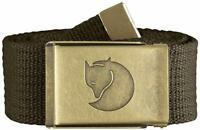 Fjallraven Canvas Brass Belt (38 mm) 4 cm width Dark Olive
