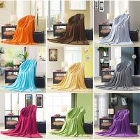 Super Soft Plush Fleece Sofa Bed Cover Warm Blanket Throw Queen/King/Super King