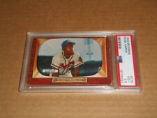 1955 Bowman #179 HANK AARON card! BRAVES! HOF! Graded PSA 3.5 VG+!! MUST SEE!