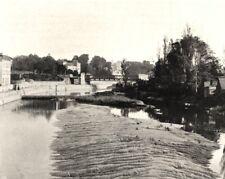 ILLE-ET-VILAINE. Redon. la Vilaine à marée basse 1902 old antique print