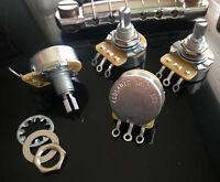 """CTS 500K  - SHORT (3/8"""") SPLIT SHAFT AUDIO POTS - Set Of  Four (4X)"""