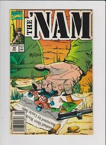 THE NAM #44 MARVEL COMICS 1990 FN+  COMBINE SHIP WITH CART