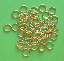 100 gold plated 9mm jump rings, findings for jewellery making crafts