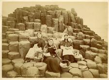 W.L. Irlande, Giants Causerway, Wishing Chair  Vintage albumen print.  Tirage