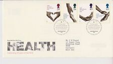GB ROYAL MAIL FDC FIRST DAY COVER 1998 NHS HEALTH STAMP SET BUREAU PMK