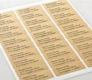 Printed Gold Self Adhesive Labels  24 Labels per A4 Sheet LABEL SIZE 63x33mm
