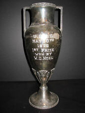 Antique 1926 Arts Crafts Style First Noel Silverplate Trophy Wallingford Ct