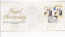 2014 Royal Christening HRH Prince George of Cambridge (Gummed Stamps) FDC