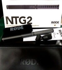 RODE NTG-2 CONDENSER SHOTGUN MIC - NTG2 Microphone BATTERY POWERED + FREE CABLE