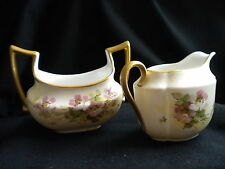 Limoges Cream and Sugar Set - T and V Mark