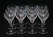 12 Royal Leerdam Holland 6-1/8 Inch Lead Crystal Brioso Stems Wine Clarets