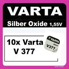 10x V377 Uhren-Batterie Knopfzelle SR66 SR626 SR626 AG4 VARTA Neu Silberoxid