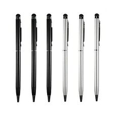 3XBlack+3XSilver 2-in1 Touch Screen Stylus Ballpoint Pen for Smart Phones Tablet