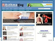 Asthma Health Care Tips Niche Blog Website For Sale!