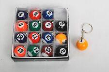 New Lot of 10 Set Billiard Key Chain Total 16 Key Chain per Set Free Shipping