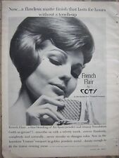 1962 COTY French Flair Air Spun Makeup Powder Compact Cosmetic Ad