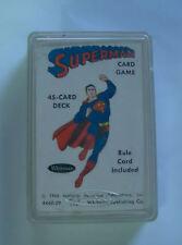 WITHMAN PUB. SUPERMAN CARD DECK 1966 IN BOX RARE