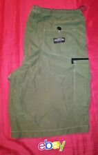 Structure Utility Supply ARMY GREEN NYLON CARGO shorts MEN SZ L drawstring EUC