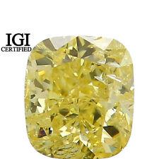 IGI CERTIFIED Natural Loose Diamond Cushion Yellow Color I1 0.67 Ct L7702 Bkk